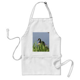 Canada Goose Irises Animal Art Apron