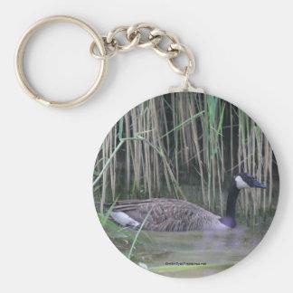 Canada Goose Nature Photo Keychain Keyring