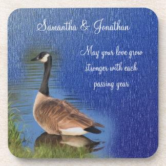 Canada Goose Nature Wedding Coaster Set