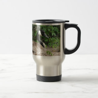 Canada Goose on Her Nest Travel Mug