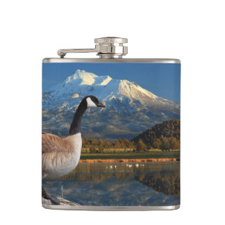 CANADA GOOSE ON THE LAKE HIP FLASKS