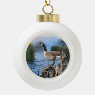 CANADA GOOSE ON THE SHASTA ORNAMENTS