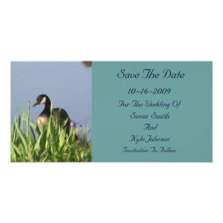 Canada Goose Painting Wedding Save The Date Personalized Photo Card