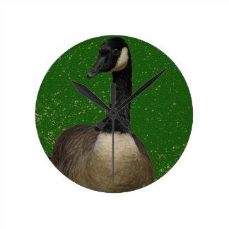 Canada Goose Round Clock