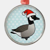 Christmas Canada Goose with Santa Hat Premium circle Ornament