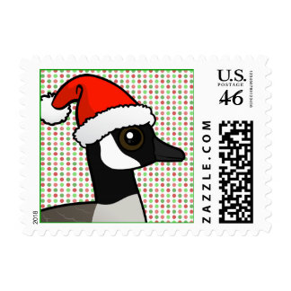 Canada Goose Santa Postage Stamps