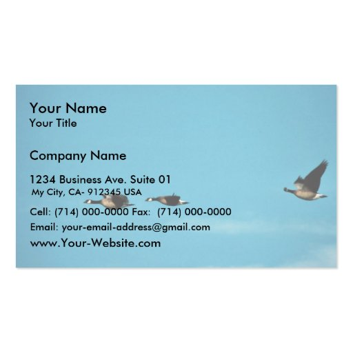 Canada goose trio in flight business cards zazzle for Business cards canada