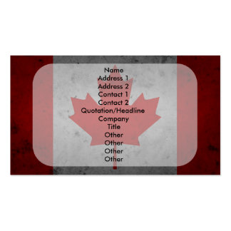Canada Grunge Flag Canadian Maple Leaf Business Cards