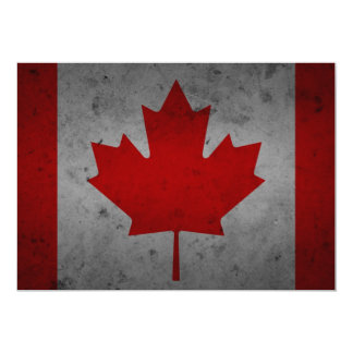 Canada Grunge Flag Canadian Maple Leaf Card