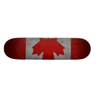 Canada Grunge Flag Canadian Maple Leaf Skateboard