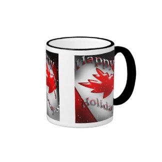 Canada Happy Holidays Mug