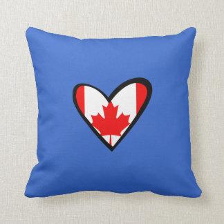 Canada heart Flag Throw Pillows