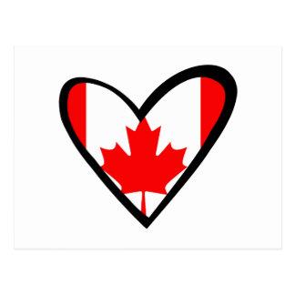 Canada heart Flag Postcard