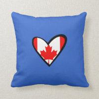 Canada heart Flag Throw Pillow