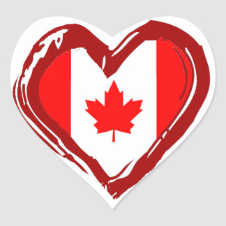 Canada Heart Heart Sticker