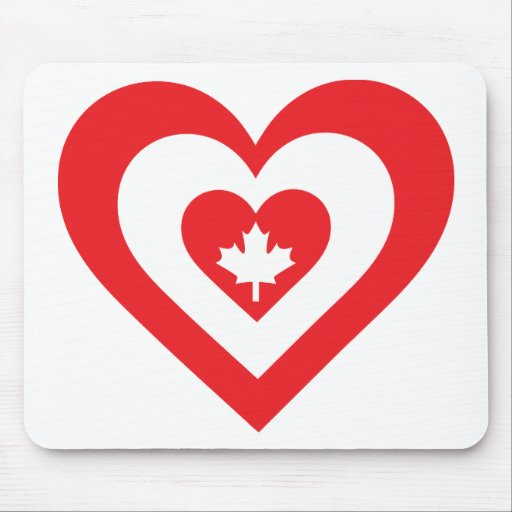 Canada Heart Mouse Pads