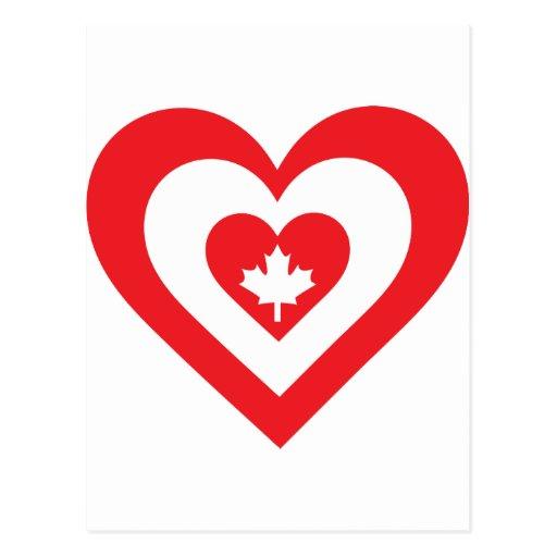 Canada Heart Postcard
