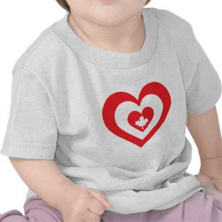 Canada Heart Tee Shirts