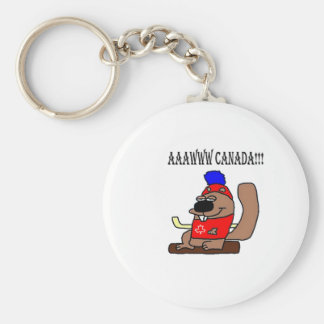 Canada Hockey Beaver.png Keychain