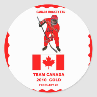CANADA HOCKEY FAN-STICKER CLASSIC ROUND STICKER