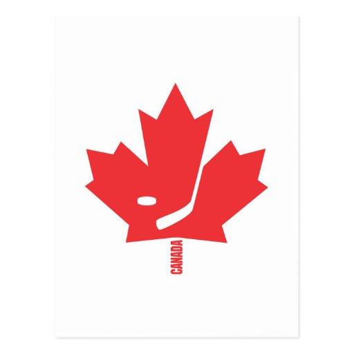 Canada Hockey Maple Leaf Post Cards