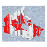Canada Home of Hockey Map Photographic Print