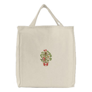 Canada - Home Tweet Home! Embroidered Tote Bag