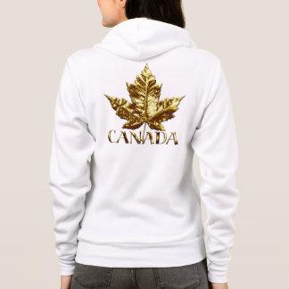 Canada Hoodies Women's Gold Maple Leaf Souvenir