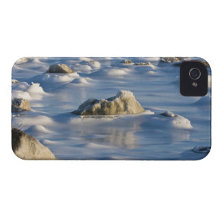 Canada, Hudson Bay. Ice and snow on the frozen iPhone 4 Case-Mate Cases