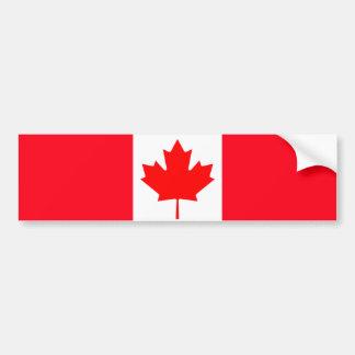 Canada I Love MY Country Flag CA Template Bumper Sticker