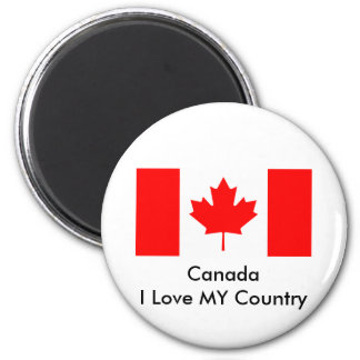 Canada I Love MY Country Flag CA Template Refrigerator Magnet