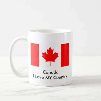 Canada I Love MY Country Flag CA Template Coffee Mugs