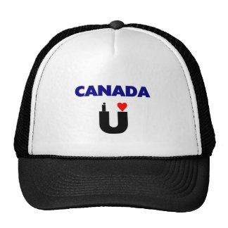 Canada I Love U Trucker Hat