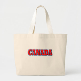 Canada in Bold Red Lettering Jumbo Tote Bag