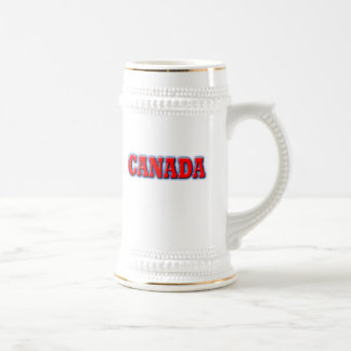 Canada in Bold Red Lettering Beer Stein