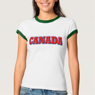 Canada in Bold Red Lettering T-shirt