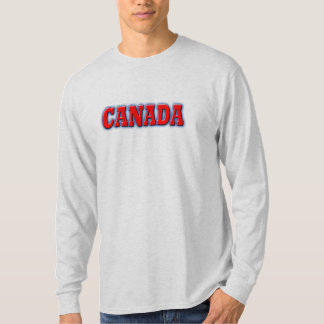 canada in bold red lettering t shirt