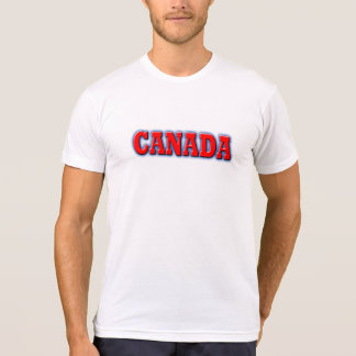 Canada in Bold Red Lettering Tee Shirt