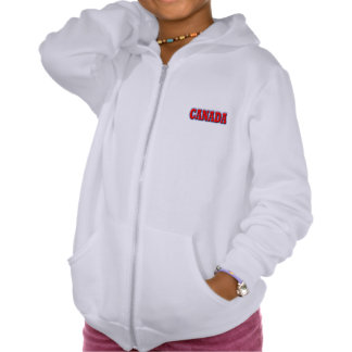 Canada in Bold Red Lettering Hooded Sweatshirt