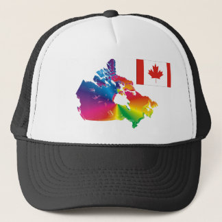 Canada in Color Trucker Hat