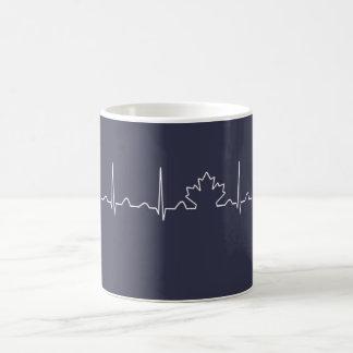 CANADA IN MY HEARTBEAT COFFEE MUG