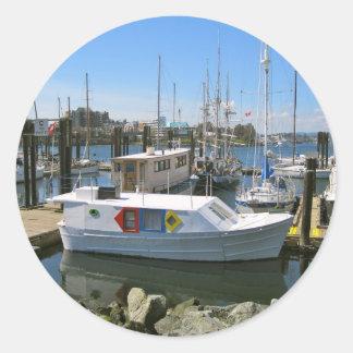 CANADA, Inner Harbour, Victoria, BC Classic Round Sticker