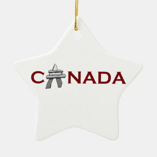 Canadá Inuksuk Adorno De Cerámica En Forma De Estrella