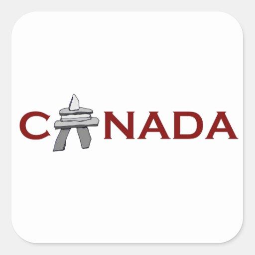 Canada Inuksuk Square Sticker
