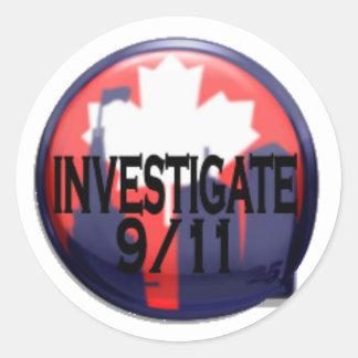Canadá investiga a 9/11 pegatina