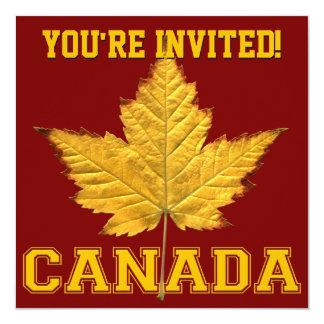 """Canada Invitations Personalize Varsity Canada RSVP 5.25"""" Square Invitation Card"""
