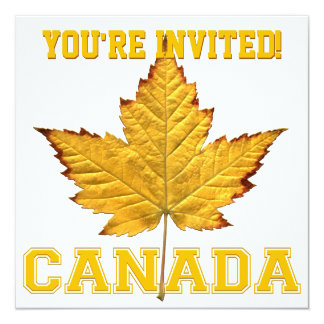 Canada Invitations Personalize Varsity Canada RSVP