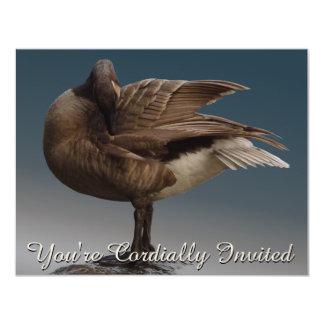 """Canada Invitations Personalized Canada Goose RSVP 4.25"""" X 5.5"""" Invitation Card"""