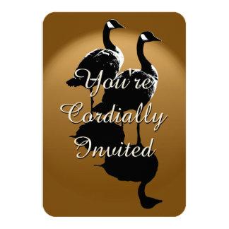 """Canada Invitations Personalized Canada Goose RSVP 3.5"""" X 5"""" Invitation Card"""