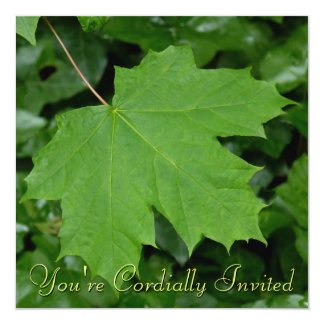 Canada Invitations Personalized Maple Leaf CN RSVP